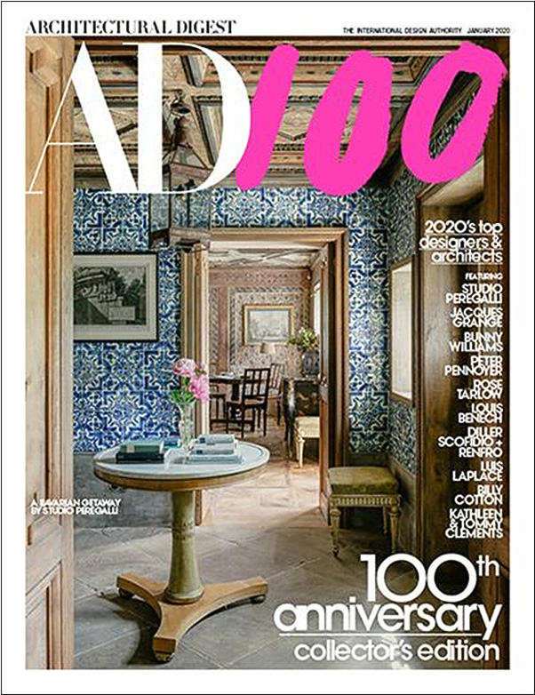 Architectural Digest magazine cover.