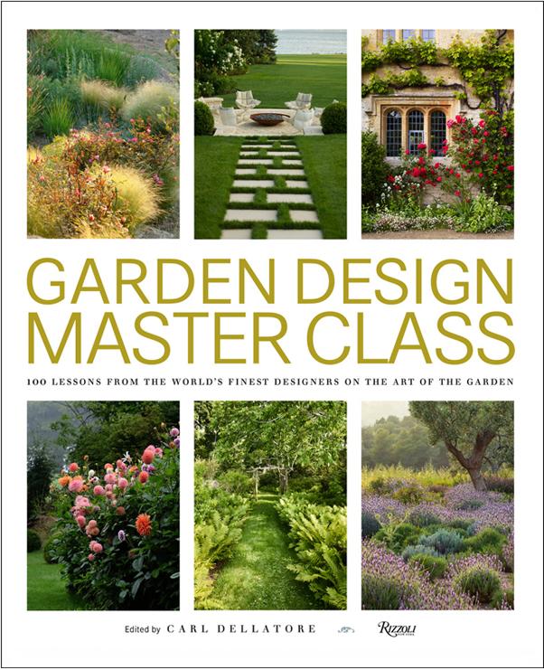 Garden Design Master Class book cover. Six images of landscape gardens.