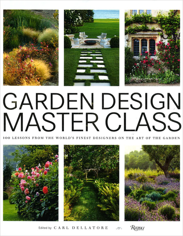 Garden Design Master Class book cover. Six images of landscape gardens.